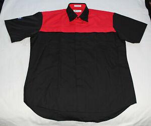 Holden-Blank-Mens-Dealer-Mechanic-Embroidered-Short-Sleeve-Shirt-Size-L-New