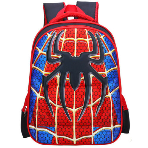 Kids 3D The Avengers School Bag Spiderman Backpack Iron Man Boys Girls Rucksack