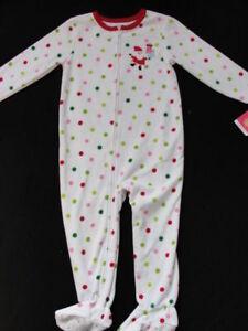 ad99db1a38c8 NWT Girls Carter s Fleece Christmas Pajamas Size 4 Footed Santa Pjs ...
