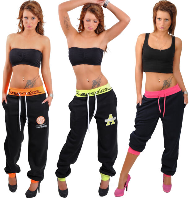 Sexy Sports Pants Trackies Neon Running Trousers Jogging Fitness College