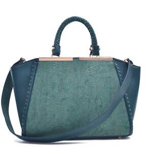 Women-Handbags-Faux-Leather-Tote-Trapeze-Bag-Satchels-Shoulder-Bag-Medium-Purse