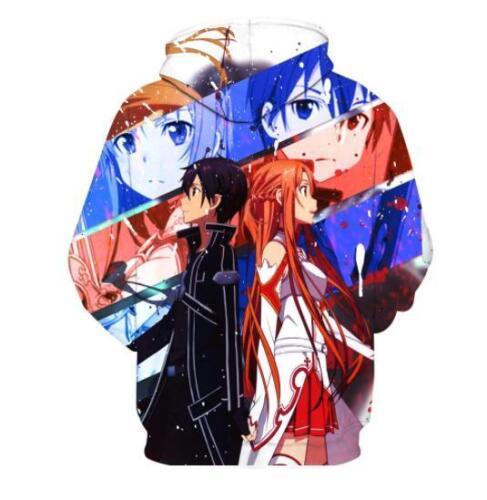 Sword Art Online Cosplay Anime Kapuzen Sweatshirt Kapuzenpulli Hoodie Pullover