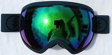 NEW $180 Electric EG2 Mens Winter Snow Green Blue Goggles Green Mirror Spy Lens