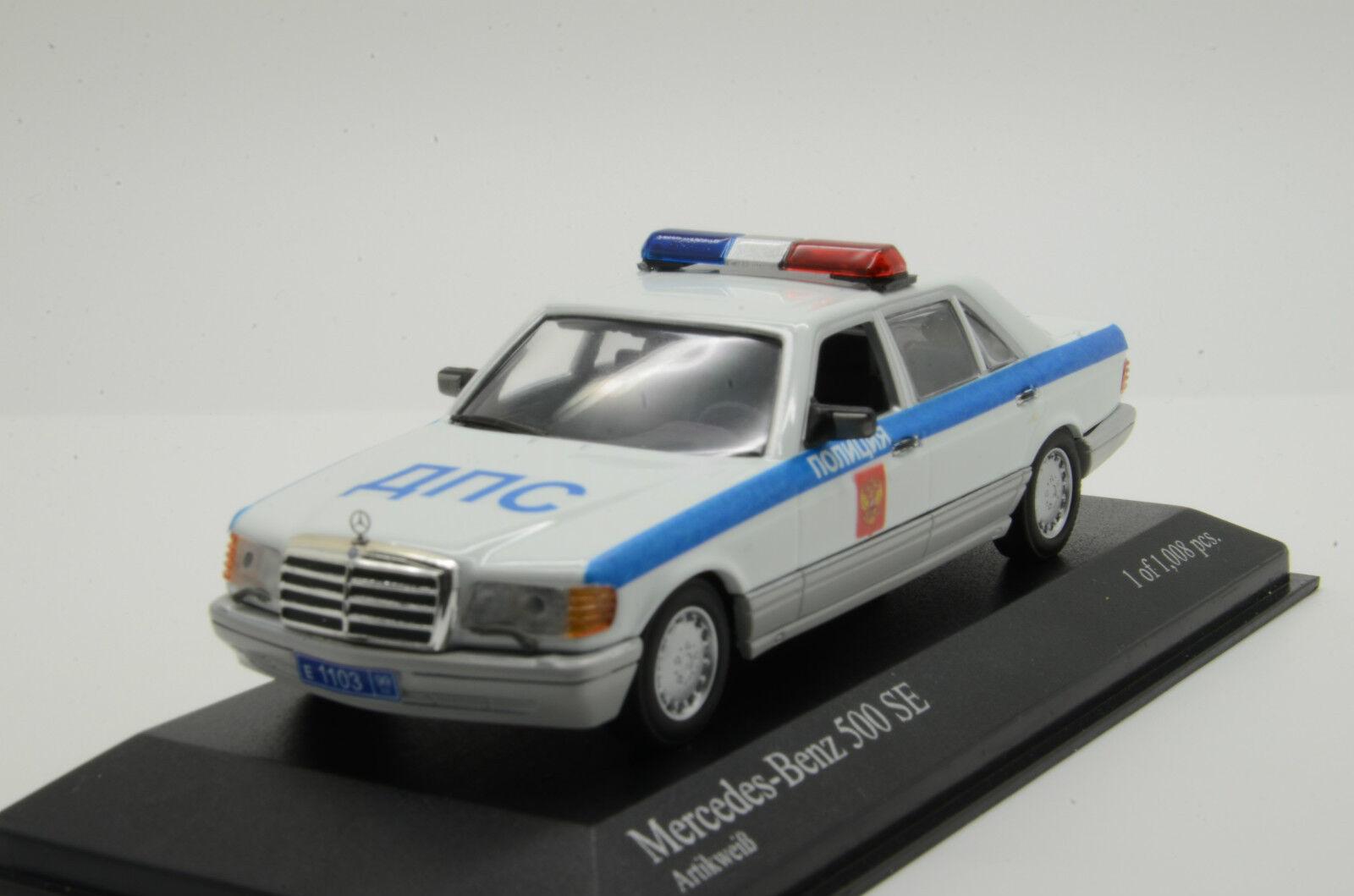 Selten       mercedes 500 se russische polizei maßgeschneiderte minichamps 1   43