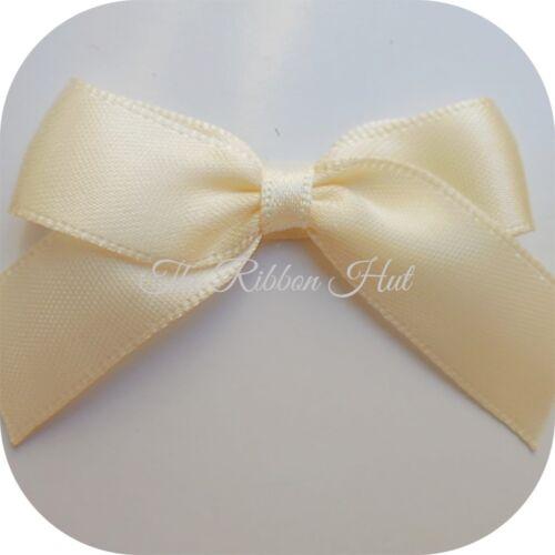 Wedding Bows Crafts Satin Ribbon Bows Packs of 6 12 Self Adhesive Large 5cm