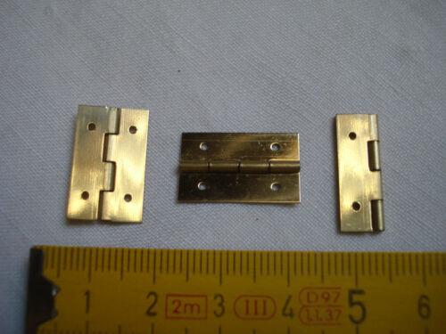petites charnières de coffret 20 mm x 12 mm en acier laitonné lot de 4 réf B