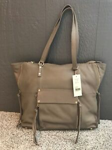7f2d5890d740 Details about KOOBA Women's Large Leather Tote Shoulder Bag Purse Taupe New  with Tags/Box