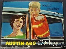 1962-1963 Austin A60 Cambridge Sales Brochure Folder Nice Original