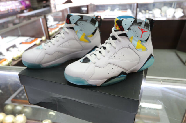 newest collection e8a05 58b2b New Limited Nike Air Jordan 7 N7 size 8.5 White Turquoise Ice Blue 744804  144