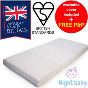 Travel Crib Cot Foam Mattress Thick 4 Mamas /& Papas Chicco Graco 160x70x8//10//13