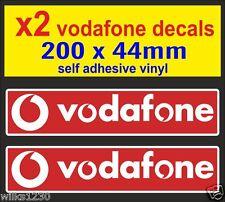 2x Vodafon Racing Car Motorcycle decal van truck slot car sponsor sticker vw dub