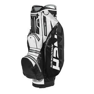 2020-Sun-Mountain-Golf-H2NO-Lite-Cart-Bag-Black-White