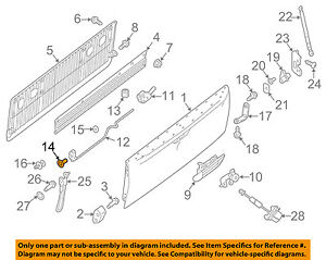 NISSAN OEM 05-16 Frontier Tail Gate-Hinge Half Ring Left 93479ZP50A