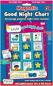 Fiesta-Crafts-MAGNETIC-GOOD-NIGHT-CHART-Educational-Childrens-Toy-BN