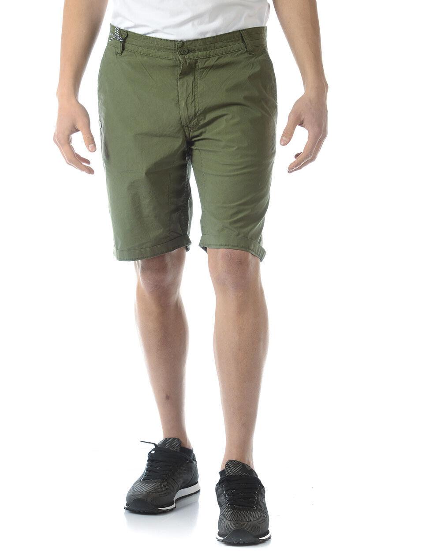 Bermuda Daniele Alessandrini Short SKINNY Cotone men green PJ9005L3503731 33