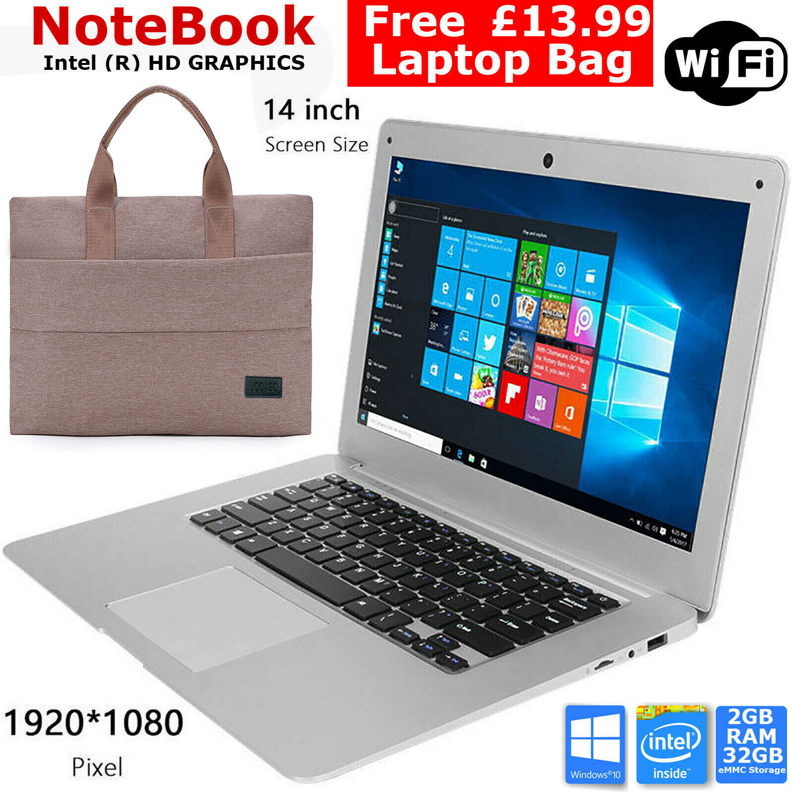 with Free Laptop Bag