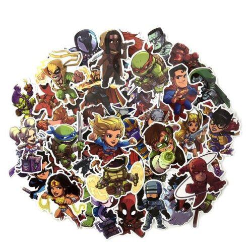 50 Pcs//Lot Stickers Avengers Super Hero DC For Car Laptop Skatboard Decal