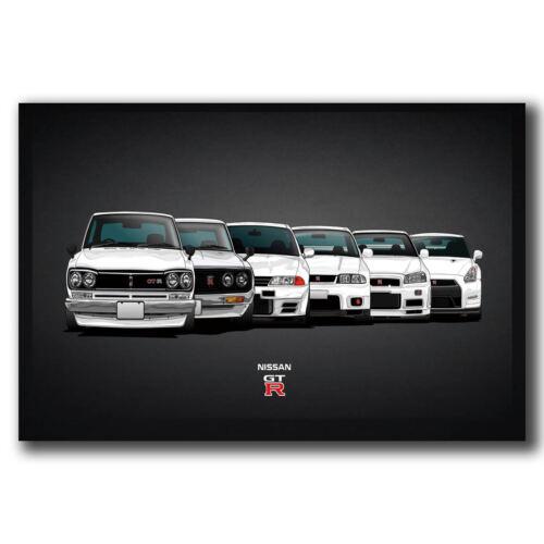 New Nissan GTR Car Models Super Power Car Custom Poster Print Art Decor T-882