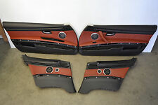 BMW E92 M3 Fox Red Leather Door Panels Cards Doorcards Trim Oem 2008-2013