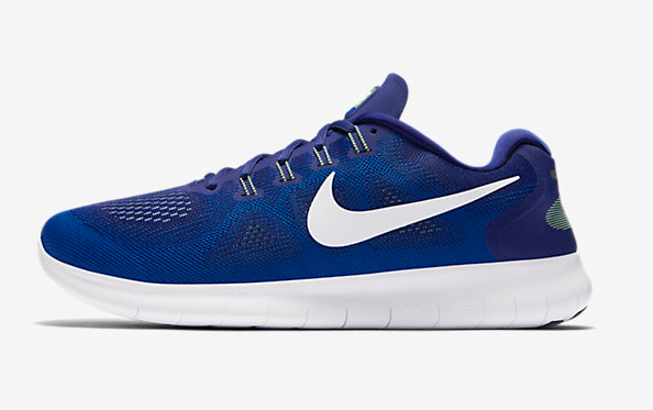 NEW MENS NIKE FREE RUN 2018 RUNNING SHOES TRAINERS DEEP ROYAL BLUE WHITE