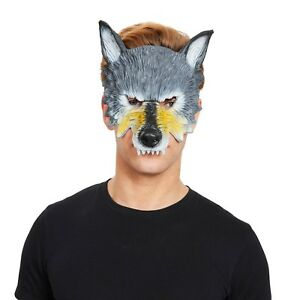Adult Animals /& Nature Half Face Wild Wolf Mask Fancy Dress Halloween Accessory