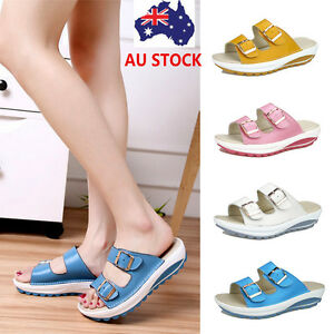 d6433e6bf5fd55 Women Platform Slipper Slip On Flip Flops Waterproof Buckle Sandals ...