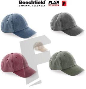 ac27dbfd0 Details about Beechfield Baseball Cap Low Profile Vintage Summer Hat Unisex