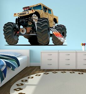 Astounding Details About Monster Truck Wall Decal Kids Bedroom Art Playroom Decor Sticker Vinyl J383 Home Interior And Landscaping Ologienasavecom
