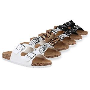Details zu Damen Sandalen Pantoletten Kork Optik Hausschuhe Schlappen Flats 826268 Schuhe