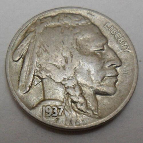 "VERY FINE*   *FREE SHIPPING* 1937 P INDIAN HEAD /""BUFFALO/"" NICKEL   *VF"