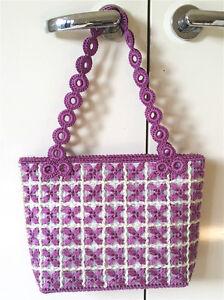 Image Is Loading Self Made Diy Bag Thread Crochet Hand