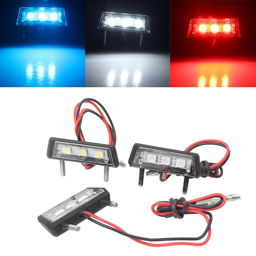 1x Moto Universal LED License Plate Tag Light  Interior Step Light Lamp