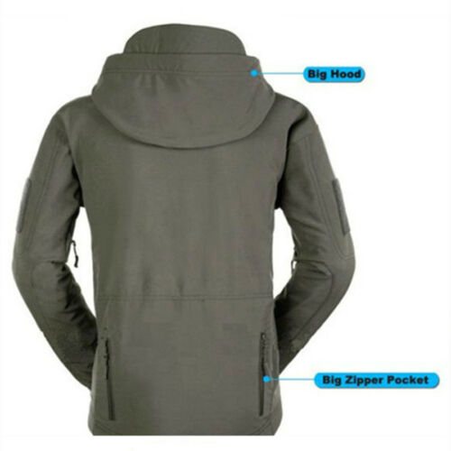 Waterproof Men/'s Jacket Soft Shell Outdoor Hiking Hunting Military Tactical Coat