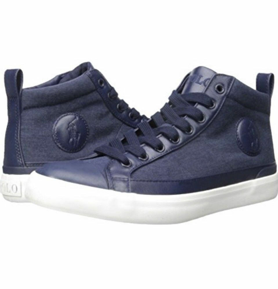 Polo Ralph Lauren Mens Clarke High Top Shoes Sneakers Size 13  Save 40 Trainers
