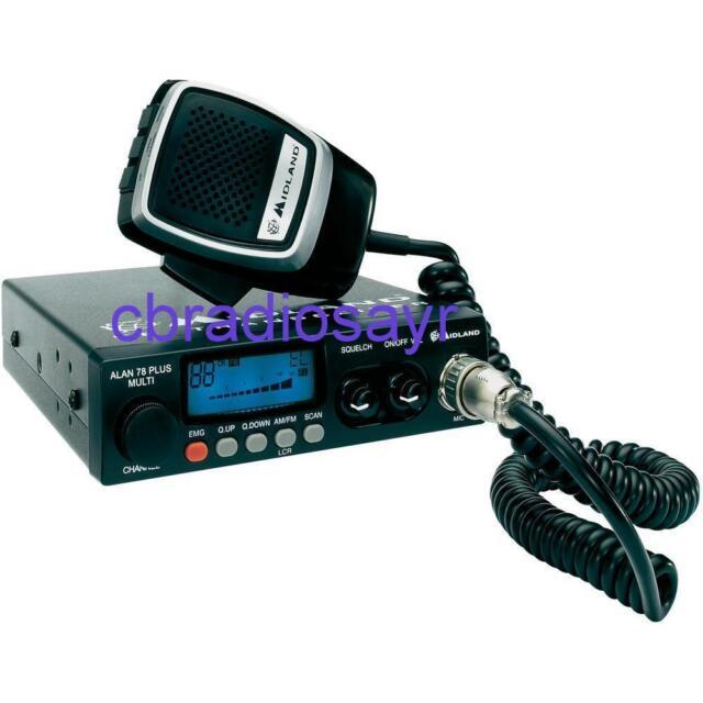 Midland Alan 78 Plus Multi CB Radio - Authorised Dealer