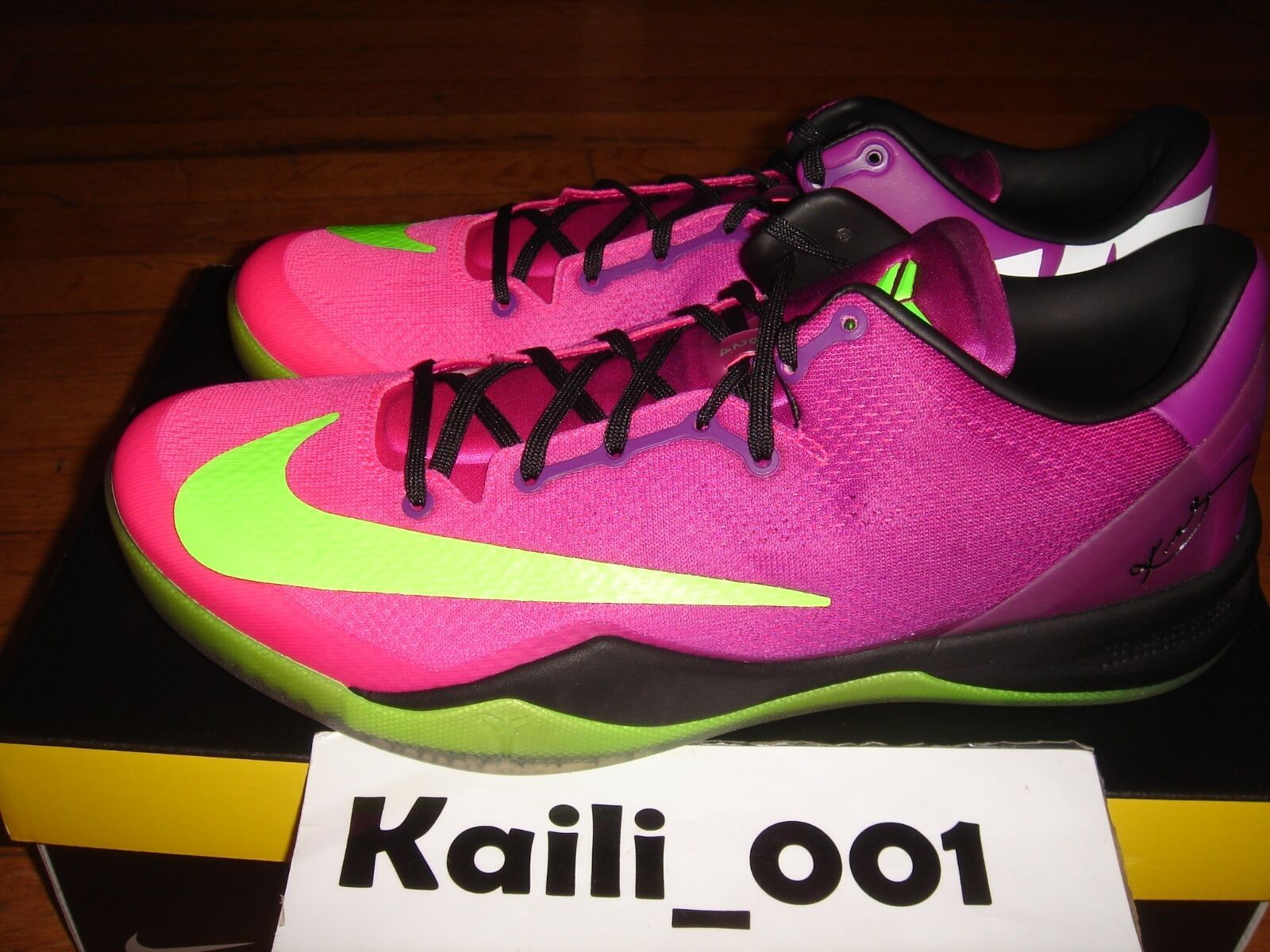 Nike Kobe 8 System MC MAMBACURIAL Size 12 615315-500 Multicolor Flyknit HTM A