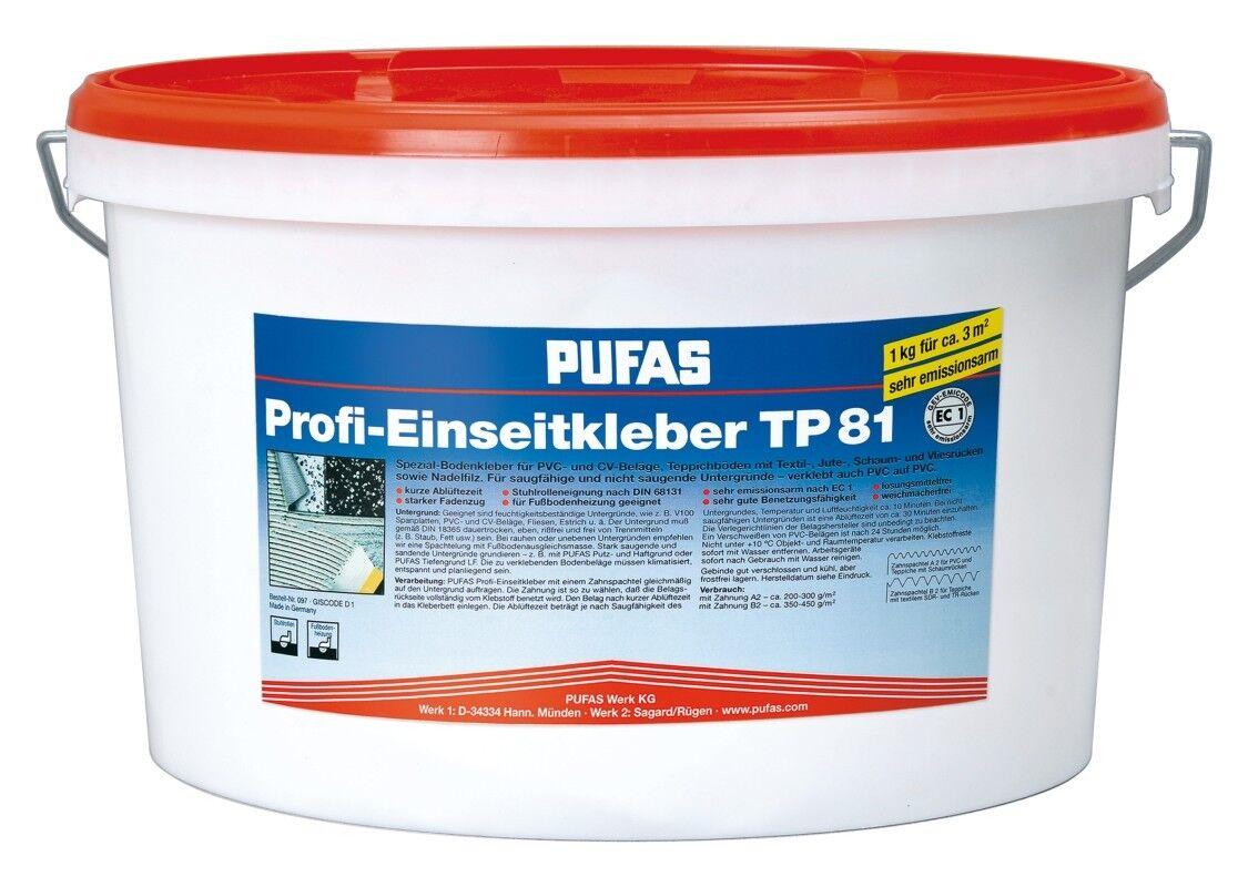 (5,28 EUR kg) PUFAS Profi-Einseitkleber TP 81 18kg