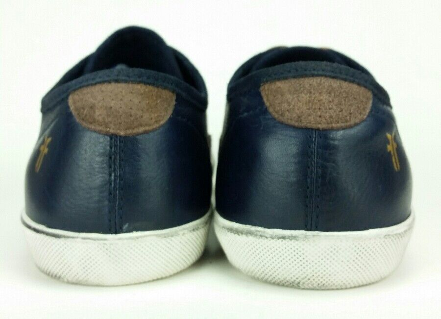 frye mens 7,5 kammern niedrig 81520 retro sneakers, - blau leder fashion sneakers, retro schuhe 2511c2