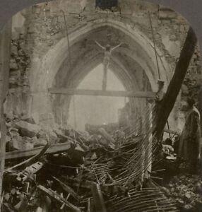 """ Miracle De La Lucy "" Unharmed Crucifix Amid Total Ruin à Lucy-le-bocage Xtfjh2t9-10103247-728622465"