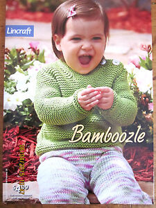 ~LINCRAFT BAMBOOZLE KNITTING PATTERN - 0 to 24 MONTHS - VGC~