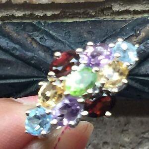 Genuine-8ct-Peridot-Amethyst-Citrine-925-Solid-Sterling-Silver-Edwardian-Ring-6