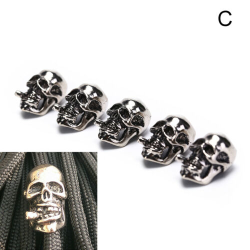 5Pcs//Lot Paracord Beads Metal Skull For Paracord Bracelet Accessories Nice