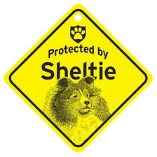 Protected by Yorkie Yorkshire L.H Dog Window Sign Made USA