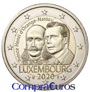 2-Euros-Conmemorativos-LUXEMBURGO-2020-Nacimiento-Principe-Henry-Sin-Circular