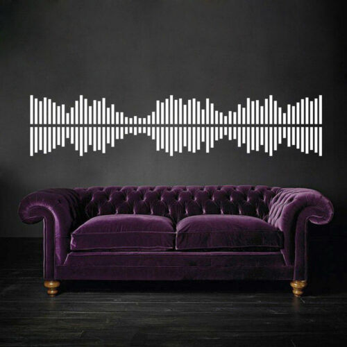 I157 Wall Decal Sticker Dance music player sound geometry disco wave sound