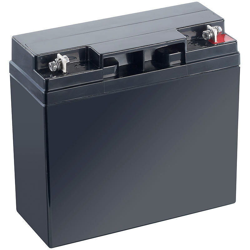 Bleiakku: Wartungsfreie Blei-Batterie mit 12 Volt, 18 Ah, M5-Schraubanschluss