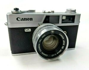 Canon-Canonet-QL17-Chrome-35mm-Rangefinder-Camera-45mm-F1-7-Lens-Case-for-parts