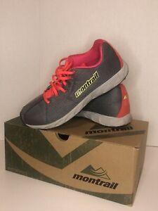 Montrail Rogue fly Chaussures De Sport Mountain Trail Gris Rose Kiwi pour Femme Taille 10