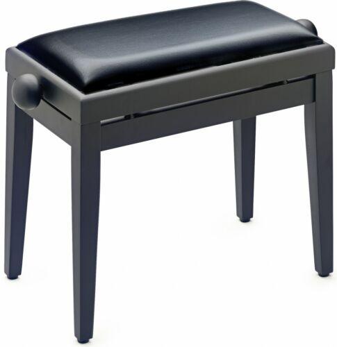 Schwarz Klavierbank mit schwarzem Kunstlederbezug Stagg PB05 BKM SBKMatt