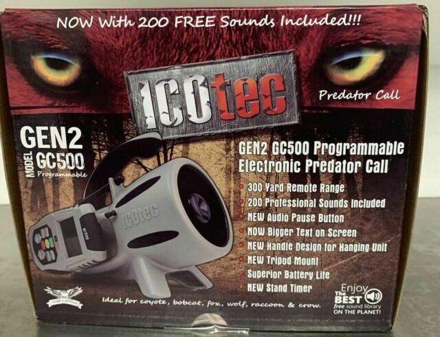 Programmable ICOtec GEN2 GC500 Electronic Predator Call 200 Sounds